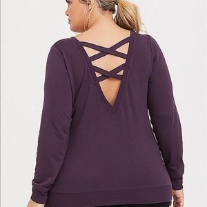 Nwt Torrid size 3 Active Purple Strappy Shirt